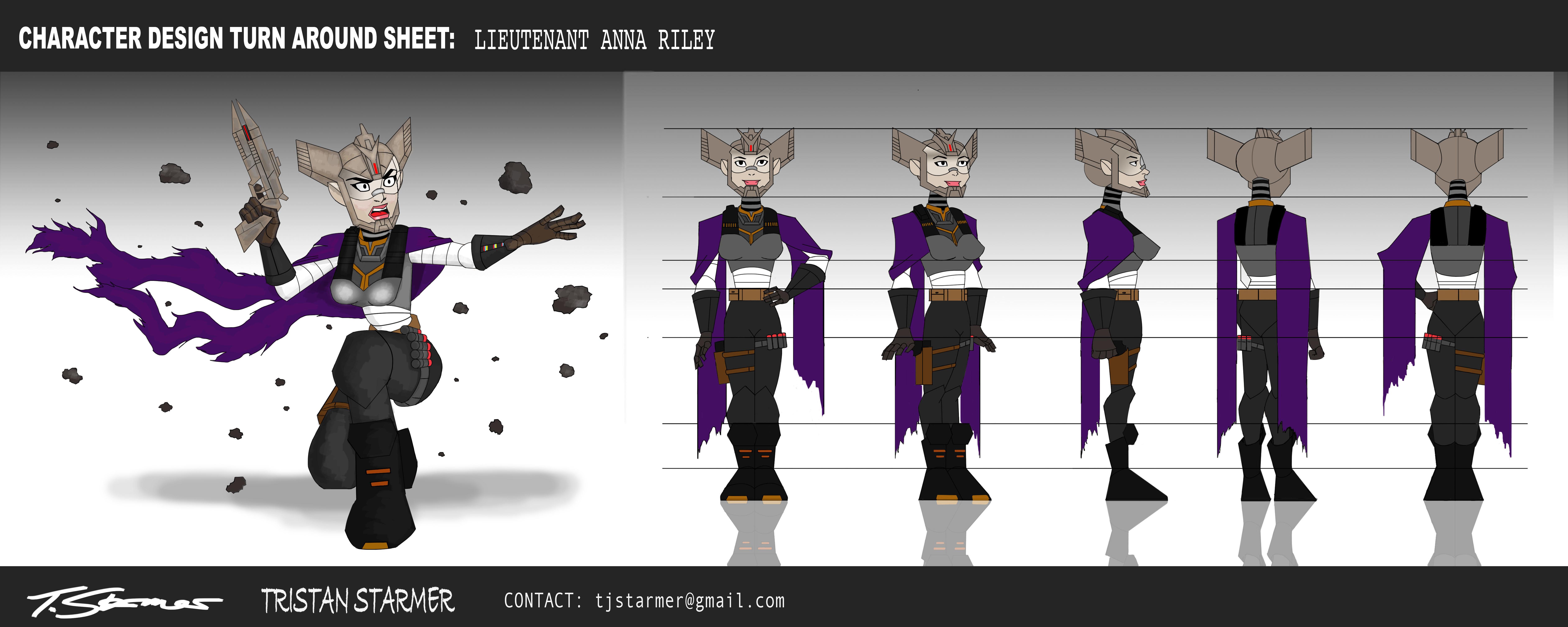 Character Design Vancouver : Character design turn around sheet lieutenant anna