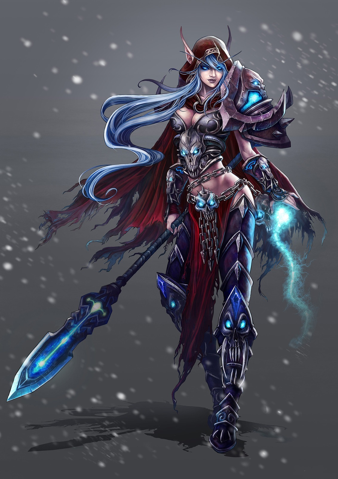 Blood elf death knight and human warrior  porn picture
