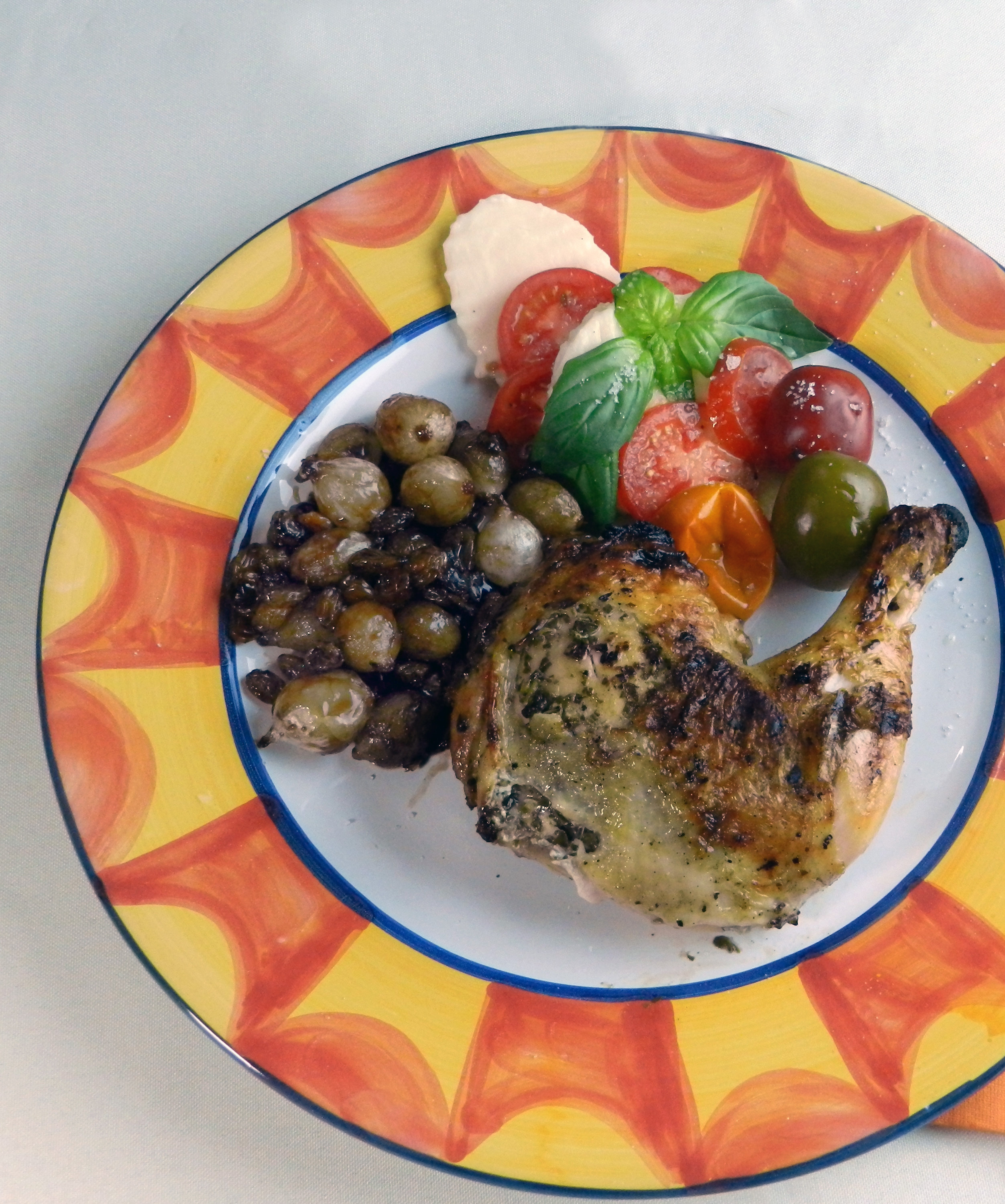 Grilled Pesto Chicken with Sweet and Sour Onions - Discovery Cooking ...