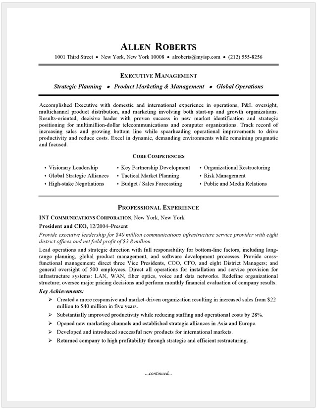 a resume example post on blockchain company  allen roberts