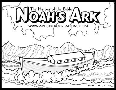 the heroes of the bible coloring pages noahs ark godinterest - Bible Coloring Pages Kids Noah
