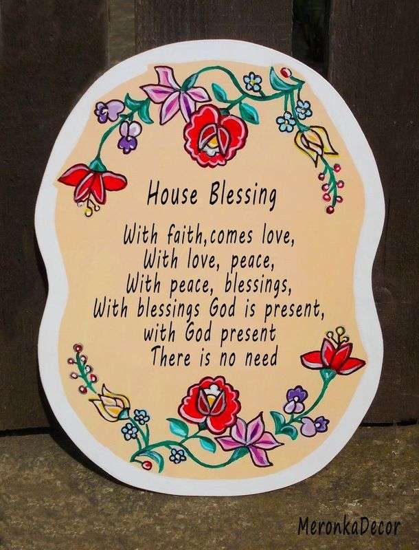 House Blessing Welcome Plate Housewarming Gift To New Home