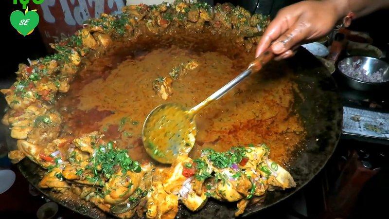 Spicy Tawa Chicken Street Food India Indian Street Food 2017