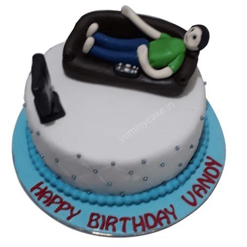 Happy Birthday Brother Cake Design Faridabadcake Foodiye The