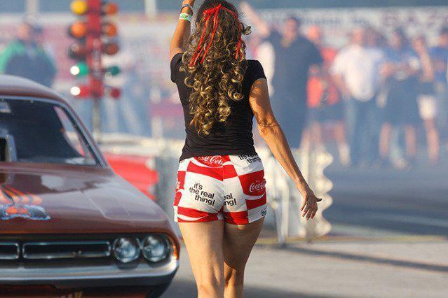 Drag Racing Back Up Girls | BangShift.com Funny Cars at the 2012 NHRA California Hot  | Nhra