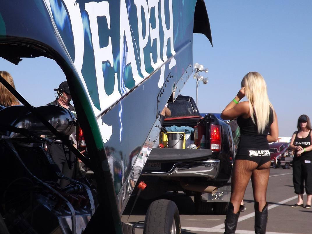 Dragster Backup Girl - Bakersfield Drag Strip. | The Mercil… | Flickr