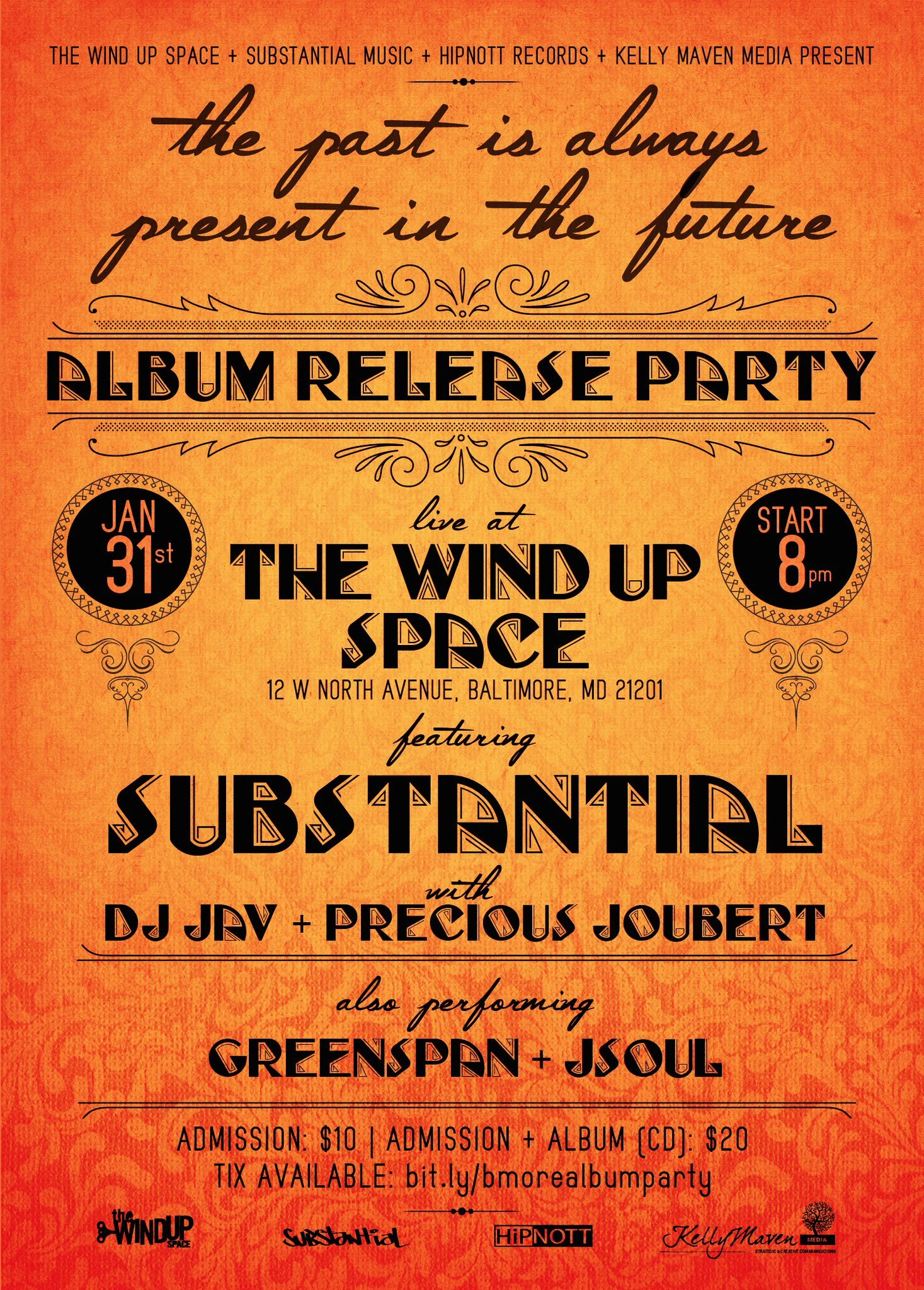 Substantial Album Release Party - January 31 - Baltimore