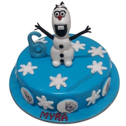 Olaf Birthday Cake Design